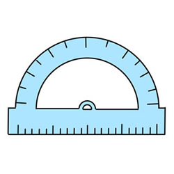 How to Draw a Protractor Easy Step by Step for Kids