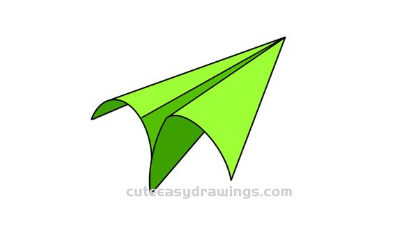 How To Draw A Paper Airplane Easy Step By Step For Kids Cute