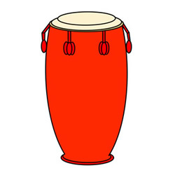 How to Draw a Conga Drum Easy Step by Step for Kids