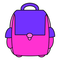 How to Draw a School Bag Easy Step by Step for Kids