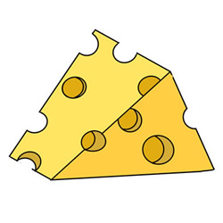 How to Draw a Cheese Easy for Kids