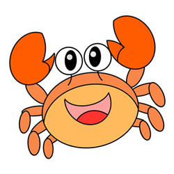 How to Draw a Crab Easy Tutorial for Kids