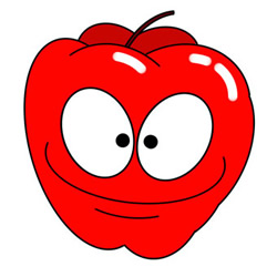 How to Draw a Red Cartoon Apple Easy Step by Step for Kids