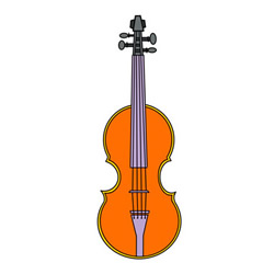 How to Draw a Violin Easy Step by Step for Kids