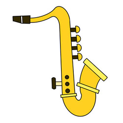 Saxophone Drawing Easy for Kids