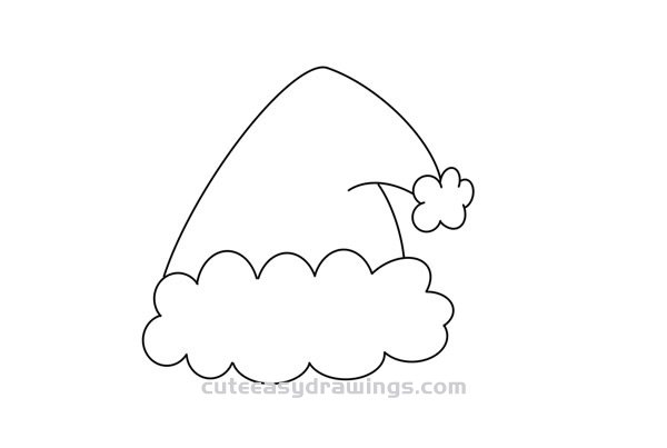 How to Draw a Christmas Hat Easy Steps for Kids