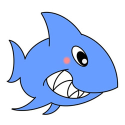 Cartoon Shark Drawings Step by Step for Kids
