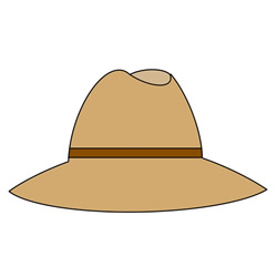 How to Draw a Men's Straw Hat Step by Step for Kids