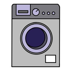 How to Draw a Drum Washing Machine Easy Step by Step for Kids
