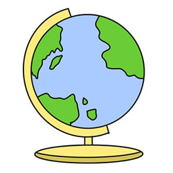 How to Draw a Globe Easy Step by Step for Kids