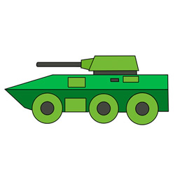 How to Draw an Infantry Fighting Vehicle Easy Step by Step for Kids