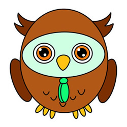 Cute Cartoon Owl Drawings for Kids