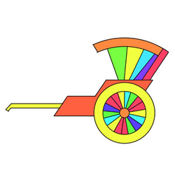 How to Draw a Rickshaw Easy Step by Step for Kids
