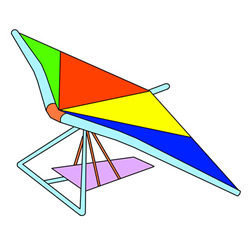 How to Draw a Hang Glider Easy Step by Step for Kids