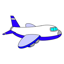 How to Draw a Passenger Plane Easy for Kids