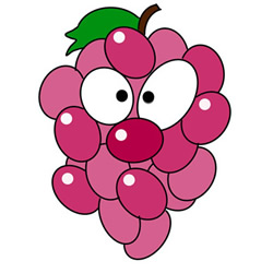 Cartoon Grapes Drawing Tutorial Step by Step for Kids