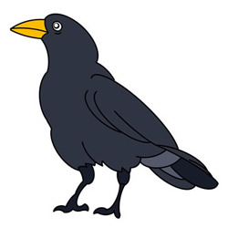 Crow Drawing Easy for Kids