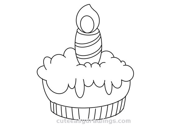 How to Draw a Little Cake Easy for Kids