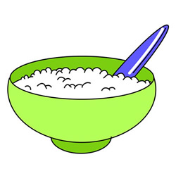 How to Draw a Bowl of Rice Easy Step by Step for Kids