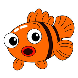 Cute Cartoon Fish Drawing Step by Step for Kids