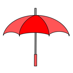 Umbrella Drawing Simple for Kids