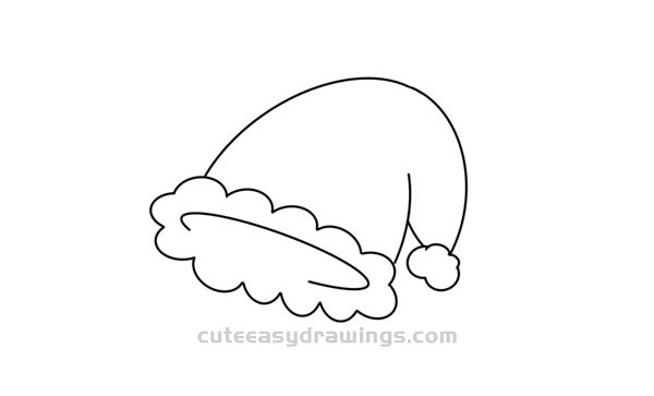 Cute Christmas Hat Drawing Tutorial for Kids