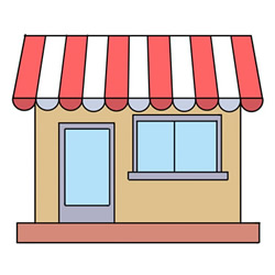 How to Draw a Cartoon Convenience Store Easy Step by Step for K