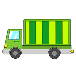 How to Draw a Cute Container Truck Easy Step by Step for Kids