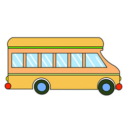 Cute School Bus Drawing Tutorial for Kids