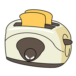 How to Draw a Toaster Easy Step by Step for Kids