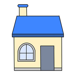 How to Draw a House with Chimney Easy Step by Step for Kids