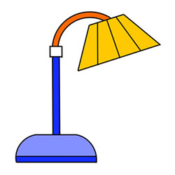 How to Draw a Floor Lamp Easy Step by Step for Kids