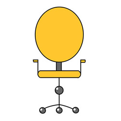 How to Draw a Cute Swivel Chair Easy Step by Step for Kids