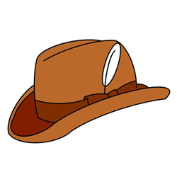 How to Draw a Cowboy Hat Easy Step by Step for Kids