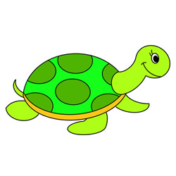 Turtle Drawing Easy Step by Step for Kids
