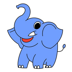Cute Elephant Drawing Easy for Kids