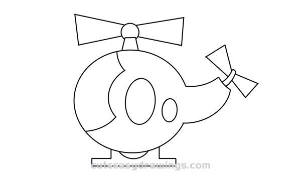 How to Draw a Kawaii Helicopter in 5 Steps for Kids