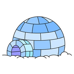 Igloo Drawing Tutorial Easy for kids