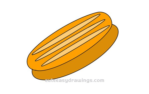 How to Draw Breads Easy Step by Step for Kids