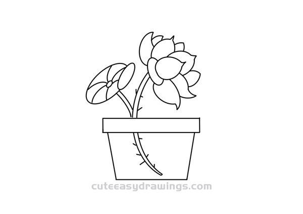 Lotus Drawing Tutorial Easy Step by Step for Kids