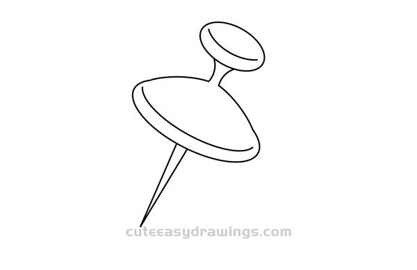 Pushpin Drawing Tutorial Easy for Kids