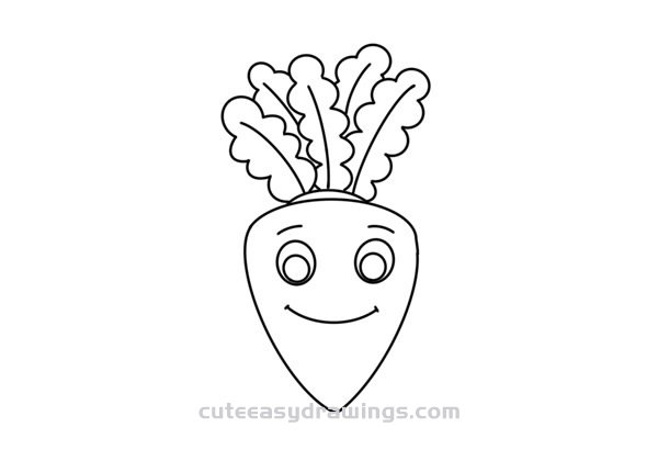 How to Draw a Cartoon White Radish Easy Step by Step for Kids