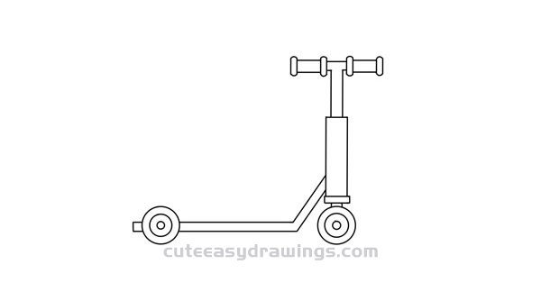 How to Draw an Electric Scooter Easy Step by Step for Kids
