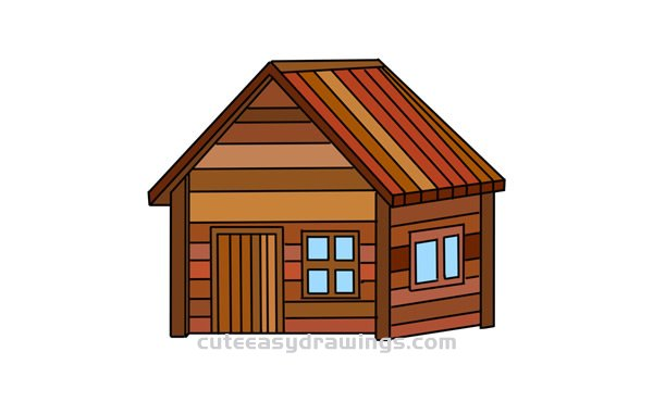 How to Draw a Chalet Easy Step by Step for Kids