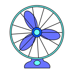 Electric Fan Drawing Step by Step for Kids