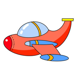How to Draw a Cartoon Small Plane Easy for Kids