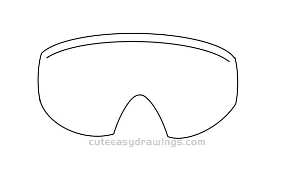 How To Draw Cool Goggles Easy Step By Step For Kids Cute Easy Drawings