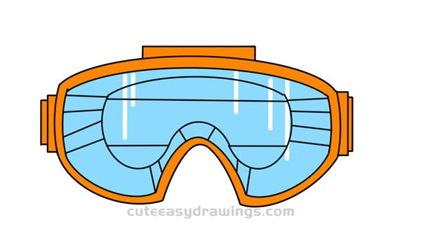 How to Draw Cool Goggles Easy Step by Step for Kids