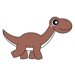 How to Draw a Cute Dinosaur Tutorial Easy for Kids