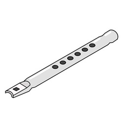 How to Draw a Recorder Instrument Easy Step by Step for Kids